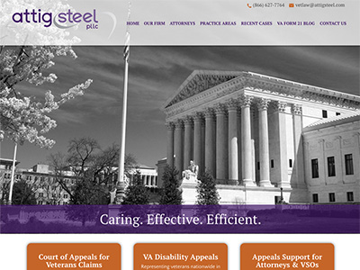 Law Firm Website design for Attig | Steel, PLLC
