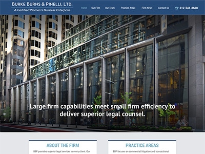 Law Firm Website design for Burke Burns & Pinelli, Lt…