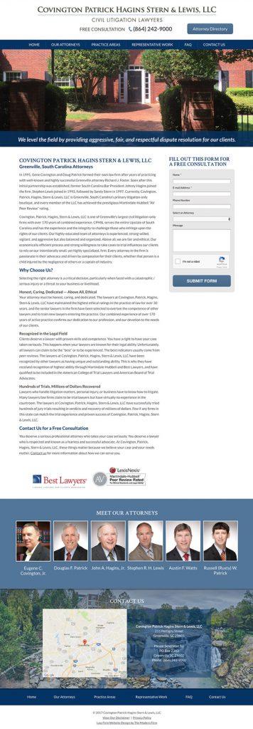 Website Design for South Carolina Law Firm