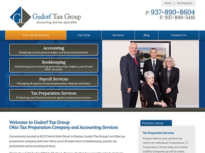 Law Firm Website design for Gudorf Tax Group, LLC