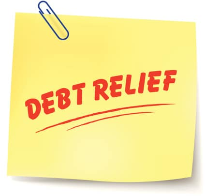 Debt Relief Sticky Note