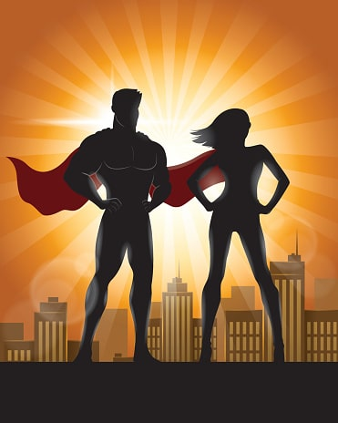 Superhero Website Designers with Capes