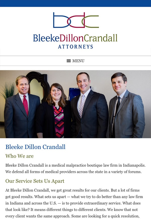 Mobile Friendly Law Firm Webiste for Bleeke Dillon Crandall