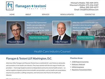 Law Firm Website design for Flanagan & Testoni LLP