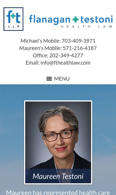 Responsive Mobile Attorney Website for Flanagan & Testoni LLP