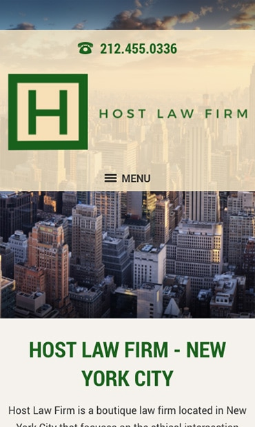 Responsive Mobile Attorney Website for Bonnie J. Host Law Firm PLLC