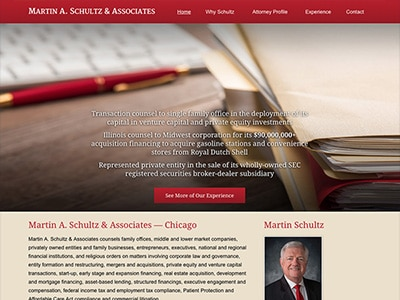Law Firm Website design for Martin A. Schultz & Assoc…