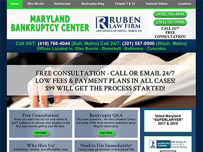 Law Firm Website design for Ruben Law Firm