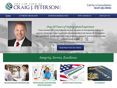 Law Firm Website design for The Law Firm of Craig J.…