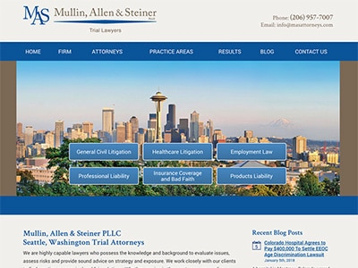 Law Firm Website design for Mullin, Allen & Steiner P…