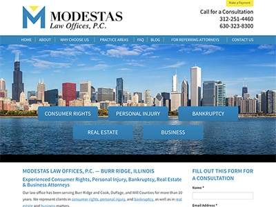 Law Firm Website design for Modestas Law Offices, P.C…