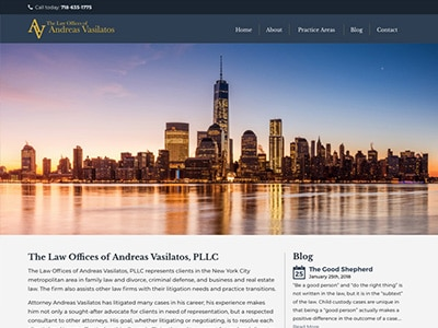 Website Design for Law Offices of Andreas Va…