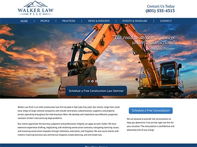 Law Firm Website design for Walker Law PLLC