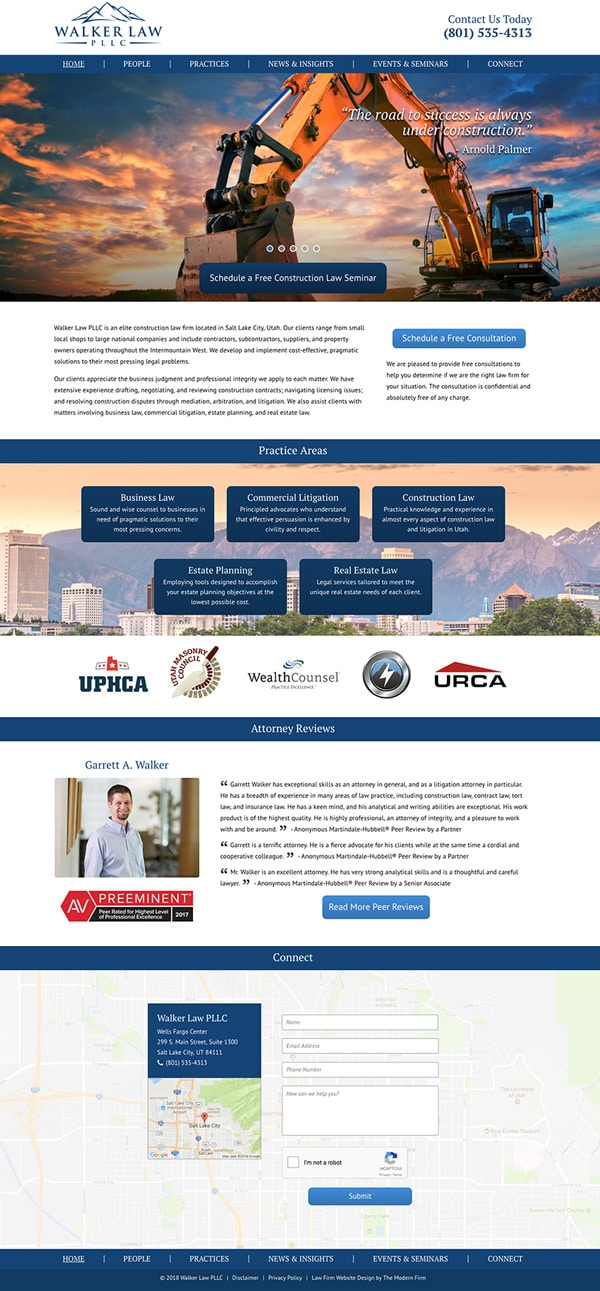 Law Firm Website for Walker Law PLLC