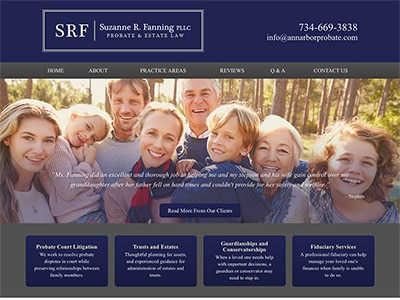 Website Design for Suzanne R. Fanning PLLC