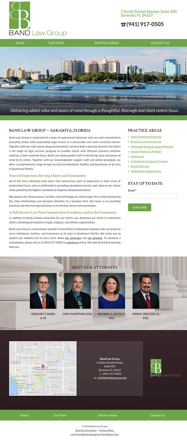 Law Firm Website Design for Band Law Group