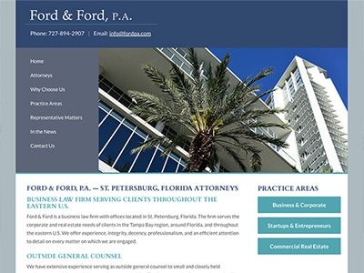 Law Firm Website design for Ford & Ford, P.A.