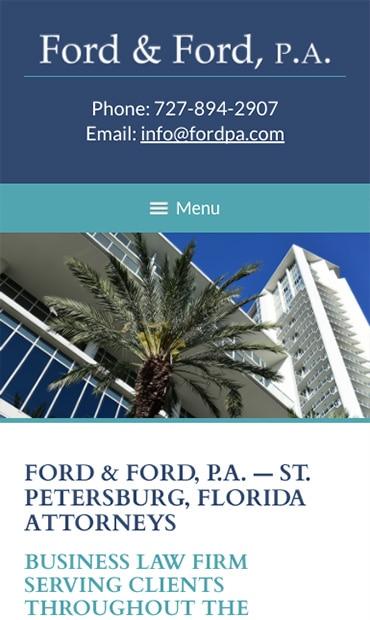 Responsive Mobile Attorney Website for Ford & Ford, P.A.