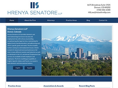 Law Firm Website design for Hrenya Senatore LLP