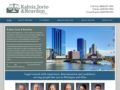 Law Firm Website design for Kalniz, Iorio & Reardon C…