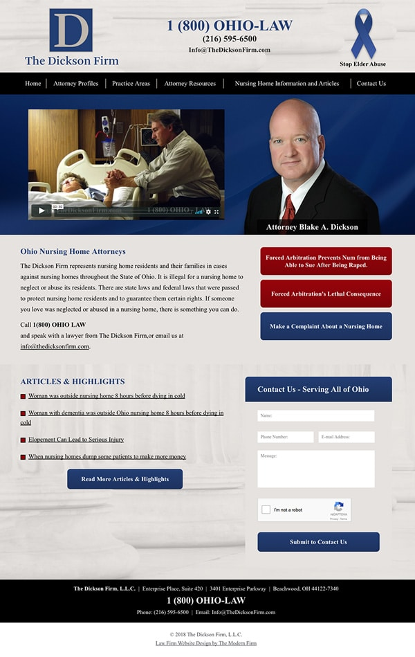 Law Firm Website for The Dickson Firm