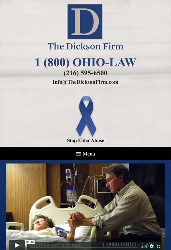 Mobile Friendly Law Firm Webiste for The Dickson Firm