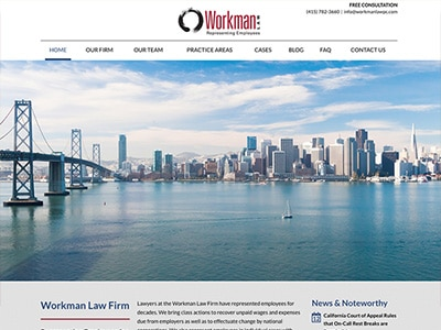 Website Design for Workman Law Firm, PC