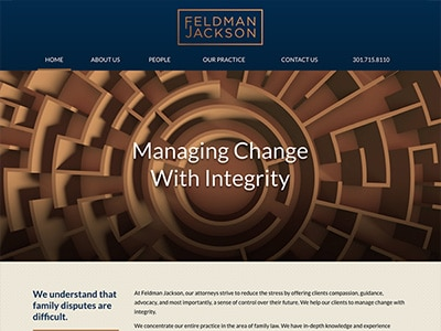 Law Firm Website design for Feldman Jackson