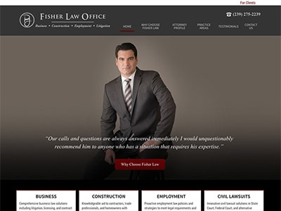 Law Firm Website design for Fisher Law Office