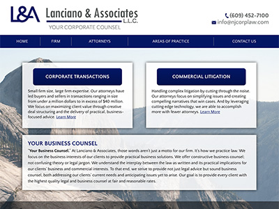 Law Firm Website design for Lanciano & Associates, L.…