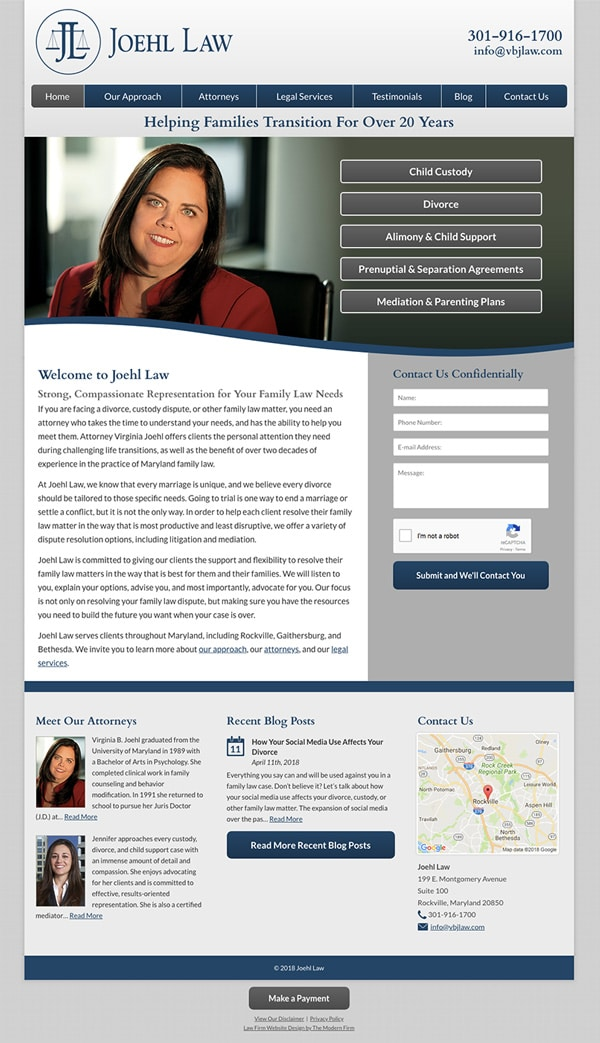Law Firm Website for Joehl Law