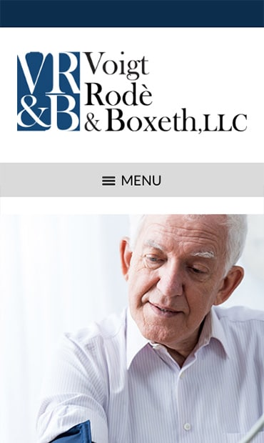 Responsive Mobile Attorney Website for Voigt, Rode & Boxeth LLC