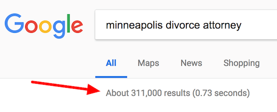 Google Search Results Total