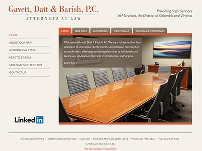 Law Firm Website design for Gavett, Datt & Barish, P.…
