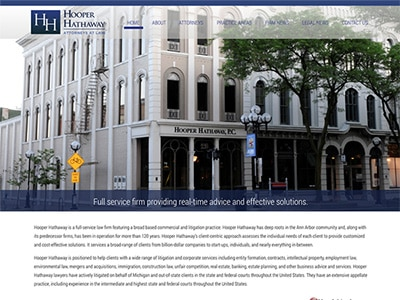 Law Firm Website design for Hooper Hathaway Price Beu…