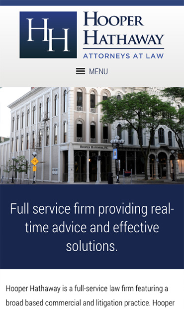 Responsive Mobile Attorney Website for Hooper Hathaway Price Beuche & Wallace