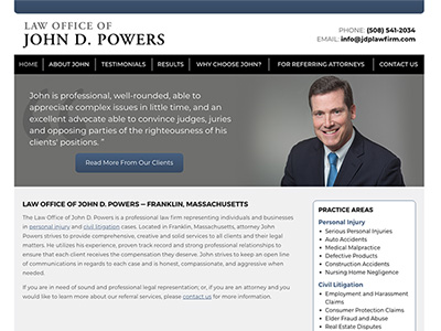 Law Firm Website design for Law Office of John D. Pow…