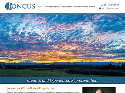 Law Firm Website design for Joncus Law PC