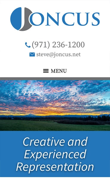 Responsive Mobile Attorney Website for Joncus Law PC