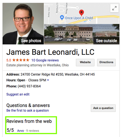 Local Google Profile for James Bart Leonardi