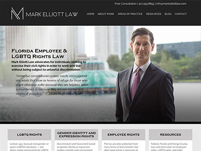 Website Design for Mark Elliott Law