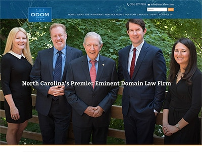 Law Firm Website design for The Odom Firm, PLLC