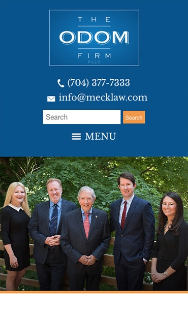 Responsive Mobile Attorney Website for The Odom Firm, PLLC