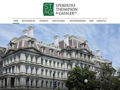 Law Firm Website design for Sperduto Thompson & Gassl…