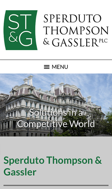 Responsive Mobile Attorney Website for Sperduto Thompson & Gassler PLC