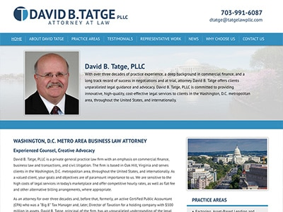 Law Firm Website design for David B. Tatge, PLLC