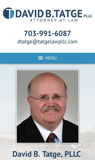 Responsive Mobile Attorney Website for David B. Tatge, PLLC