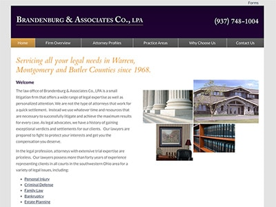 Law Firm Website design for Brandenburg & Associates…