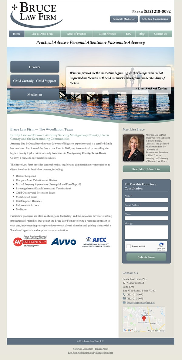 Law Firm Website Design for Bruce Law Firm, P.C.