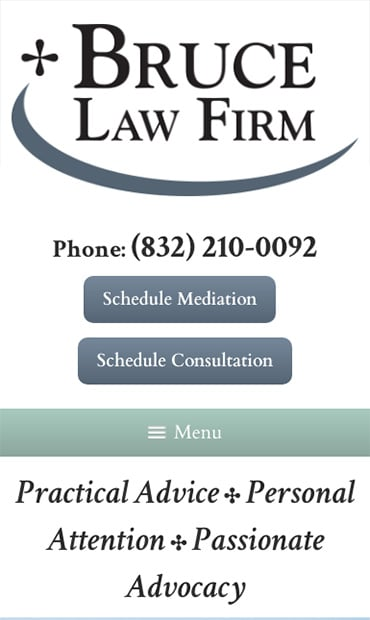 Responsive Mobile Attorney Website for Bruce Law Firm, P.C.